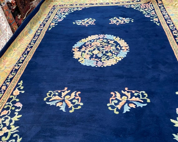 """10'7"""" x 16'7"""" Chinese Aubusson Oriental Rug - Full Pile - Hand Made - 100% Wool"""
