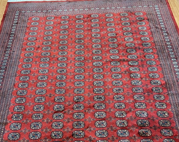 "8'4"" x 9'4"" Pakistani Bokhara Oriental Rug - Full Pile - Hand Made - 100% Wool"