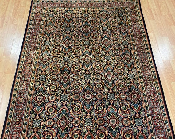 4' x 6' New Indian Herati Oriental Rug - Very Fine - Hand Made - 100% Wool