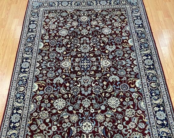 "4'2"" x 6'3"" Pakistani Tabriz Oriental Rug - 100% Wool - Hand Made"