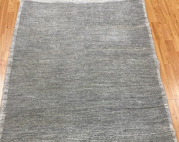 "3'6"" x 5' Afghan Gabbeh Oriental Rug - Hand Made - 100% Wool - Modern"