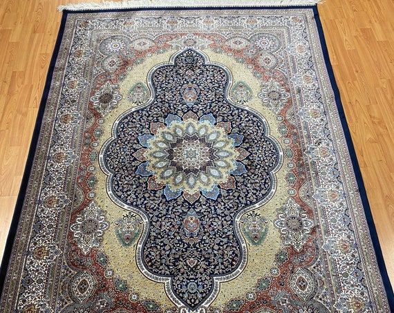 "5' x 7'5"" New Turkish Oriental Rug - 1200 KPSI - Very Fine - Hand Made - 100% Silk"
