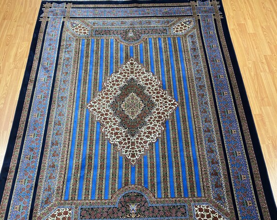 "5' x 7'5"" New Turkish Oriental Rug - 1200 KPSI - Fine - Hand Made - 100% Silk"