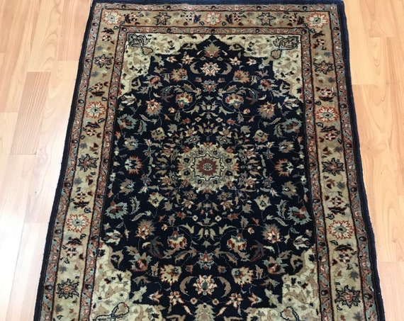 "2'1"" x 3'1"" Sino Chinese Oriental Rug - Very Fine - Hand Made - Wool and Silk"