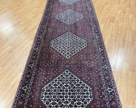 "2'9"" x 13' New Kurdish Floor Runner Oriental Rug - Very Fine - Hand Made - 100% Wool"