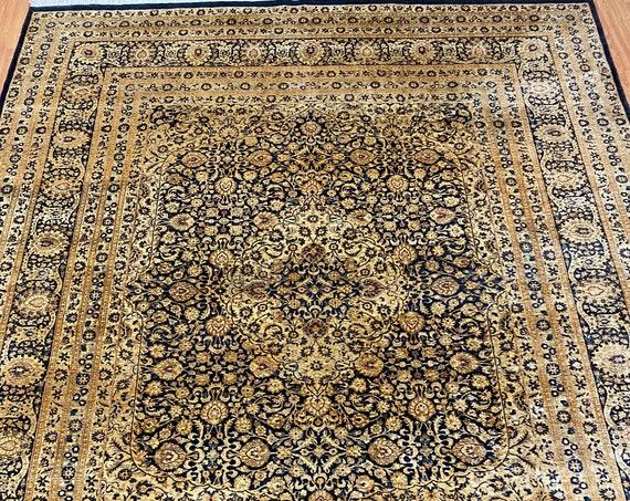 8' x 10' Pakistani Tabriz Oriental Rug - Full Pile - Hand Made - 100% Wool