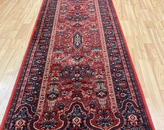 """2'3"""" x 9' Belgian Couristan Floor Runner Oriental Rug - 100% Wool - Full Pile"""