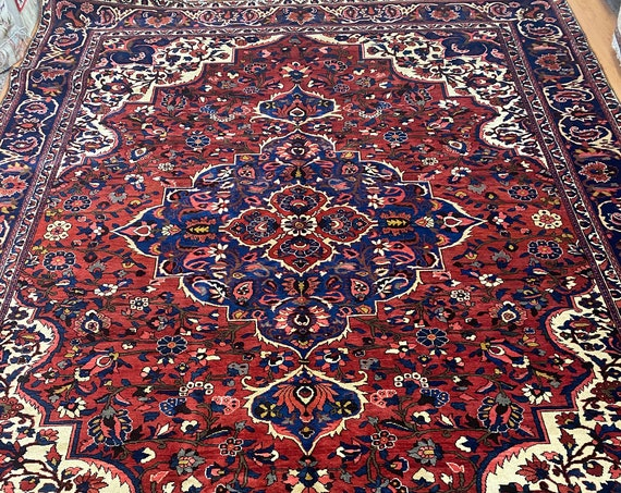 """9'9"""" x 13' Indian Medallion Oriental Rug - Full Pile  - Hand Made - 100% Wool"""