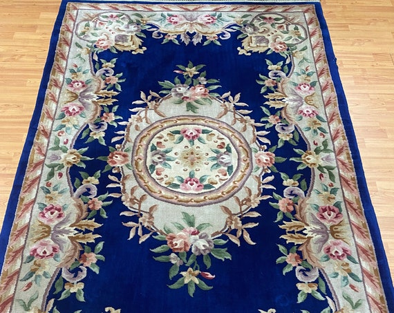 5' x 8' Chinese Aubusson Oriental Rug - Full Pile - Hand Made - 100% Wool