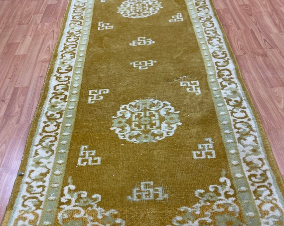 "2'8"" x 9'8"" Chinese Aubusson Oriental Rug - Hand Made - 100% Wool"