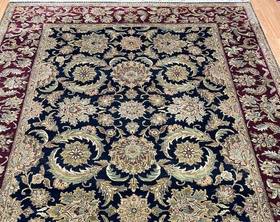 "8'2"" x 10'2"" Indian Agra Oriental Rug - Full Pile - Hand Made - 100% Wool"