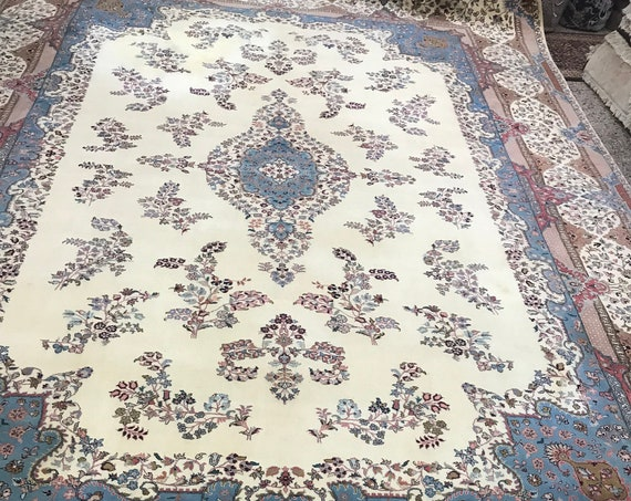 "10'3"" x 14'4"" Pakistani Tabriz Oriental Rug - Full Pile - Hand Made - 100% Wool"