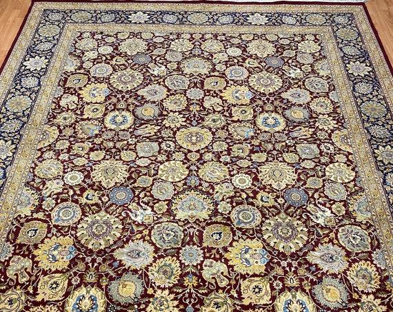"8' x 10'3"" Pakistani Tabriz Oriental Rug - 350 KPSI - Hand Made - 100% Wool"