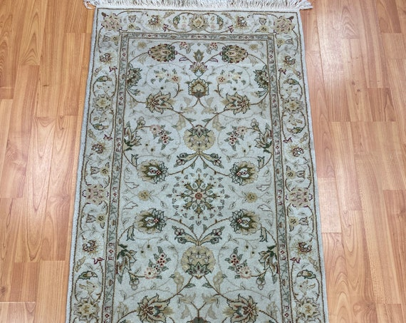"2'1"" x 4'2"" Sino Chinese Oriental Rug - Hand Made - Wool and Silk Pile"