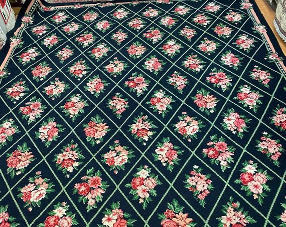 10' x 15' Chinese Stitch Work Art Deco Oriental Rug - Hand Made - 100% Wool