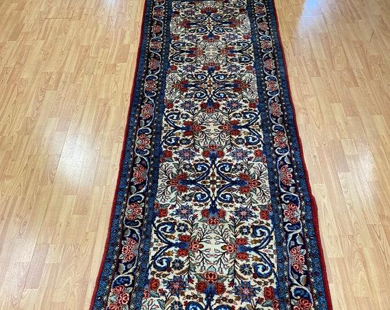 "2'11"" x 13' Kurdish Oriental Rug Floor Runner - Full Pile - Hand Made - 100% Wool"