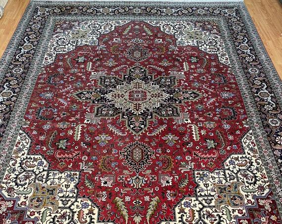 "8'5"" x 11'6"" Fine Turkish Oriental Rug - 400 KPSI - Hand Made - Wool & Silk Pile"