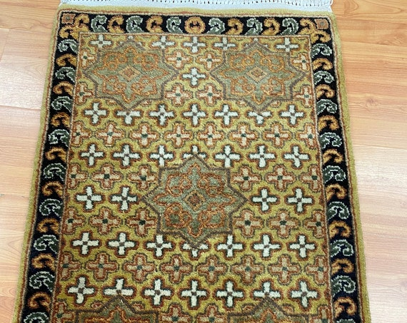 2' x 3' New Indian Bakhtiari Oriental Rug - Very Fine - Hand Made - 100% Wool