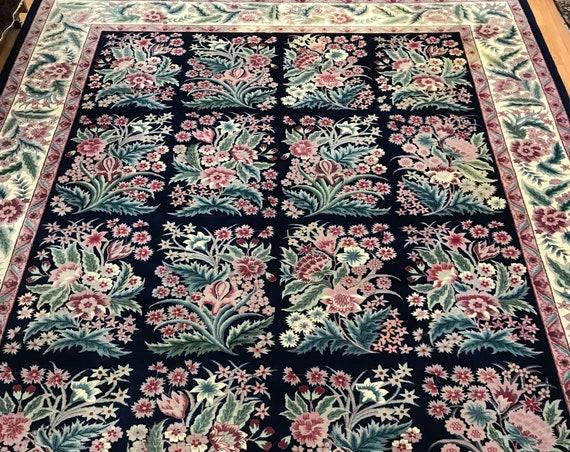 """9'2"""" x 12'2"""" Sino Chinese Garden Design Oriental Rug - Hand Made - 100% Wool"""