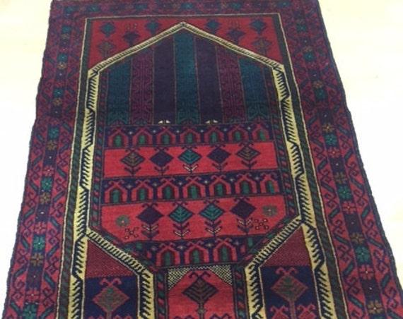 "2'6"" x 4'6"" Afghan Turkeman Oriental Rug - 100% Wool Pile - Hand Knotted"