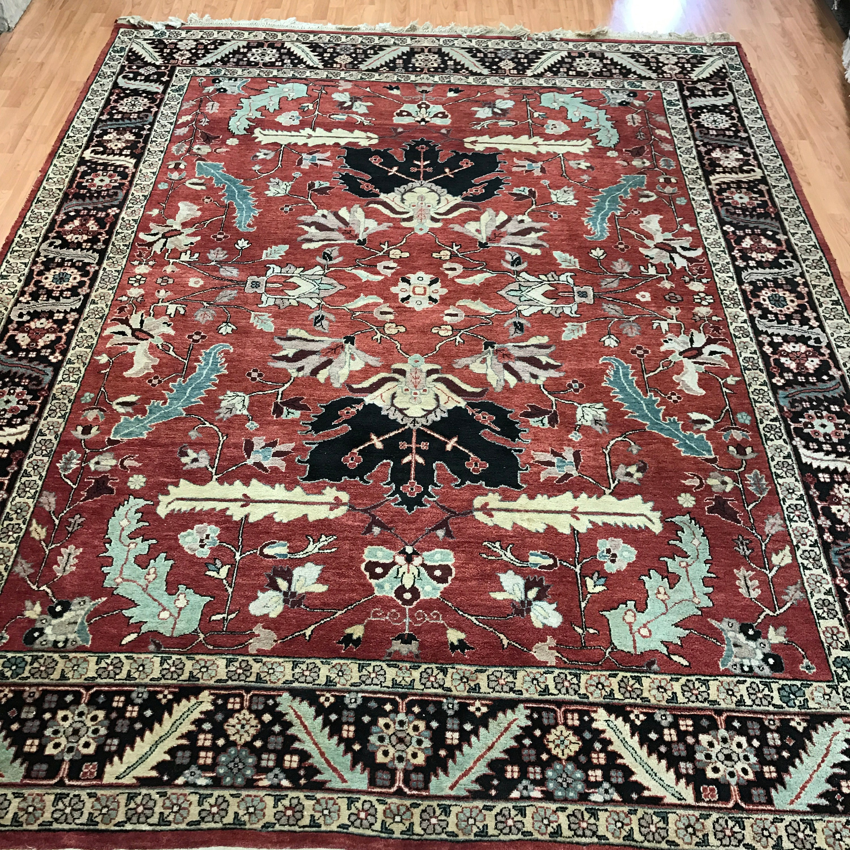 8' X 10' Indian Agra Oriental Rug