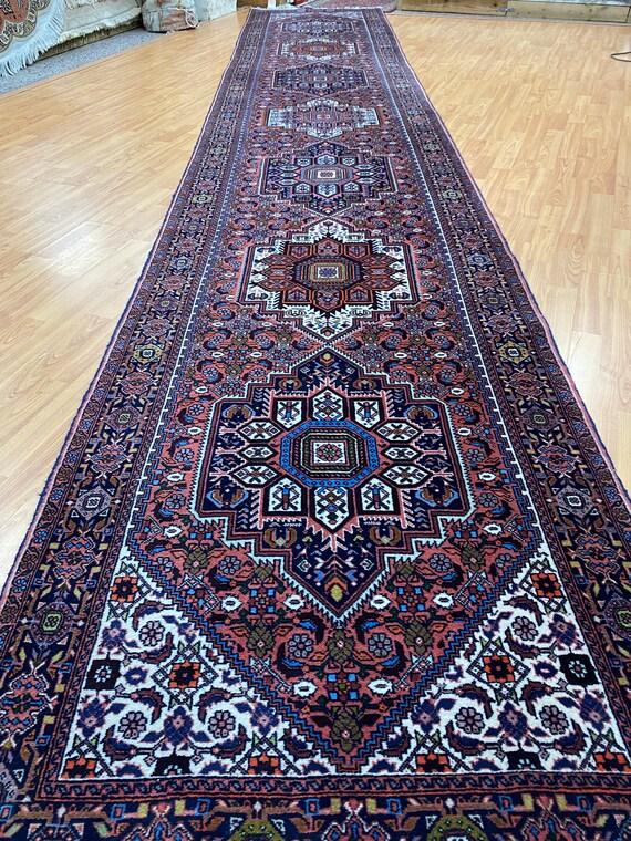 "2'11"" x 16'5"" Kurdish Floor Runner Oriental Rug - Full Pile - Hand Made - 100% Wool"