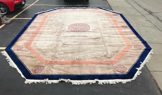 16' x 21' Chinese Art Deco Oriental Rug - Full Pile - Hand Made - 100% Wool