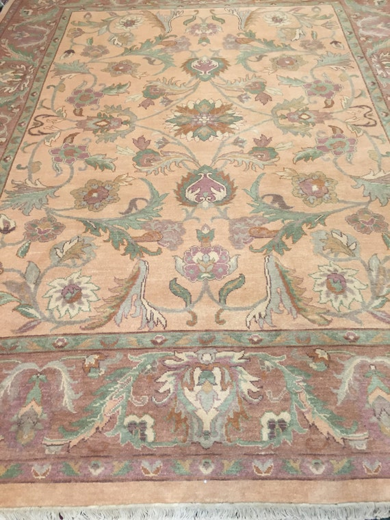8' x 10' Chinese Agra Oriental Rug - Hand Made - 100% Wool - Vegetable Dye