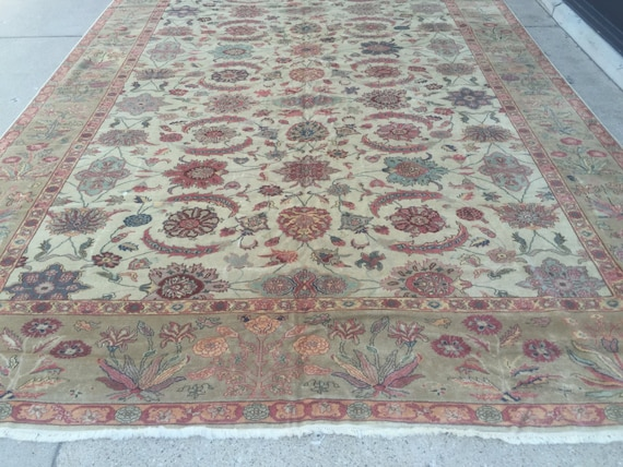 "10'3"" x 14'6"" Egyptian Sultanabad Oriental Rug - Hand Made - Vegetable Dye - 100% Wool"