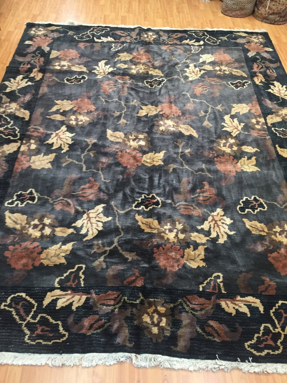 8' x 10' Indian Nepal Oriental Rug - Hand Made - 100% Wool - Modern Design