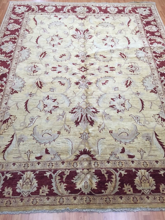 "8' x 10'3"" Pakistani Peshawar Oriental Rug - Hand Made - Vegetable Dye - 100% Wool"