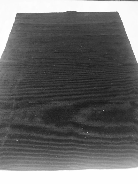 5' x 8' Indian Nepal Oriental Rug - Black - Modern - Hand Made - 100% Wool