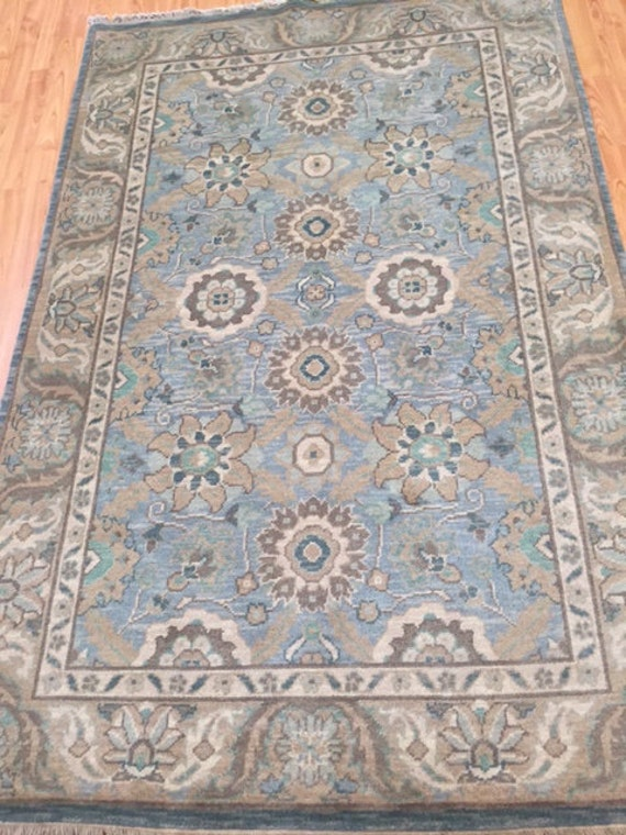 4' x 6' Chinese Agra Oriental Rug - Hand Made - 100% Wool