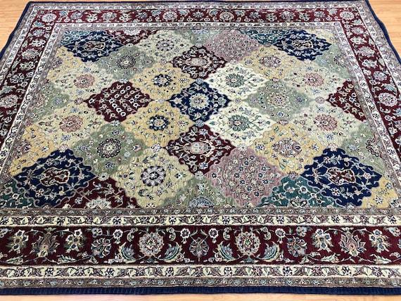 "7'7"" x 9'7"" Chinese Bakhtiari Design Oriental Rug - Tufted - Hand Made - 100% Wool"