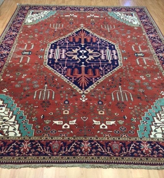 8' x 10' Romanian Serapi Oriental Rug - Very Fine - Hand Made - 100% Wool