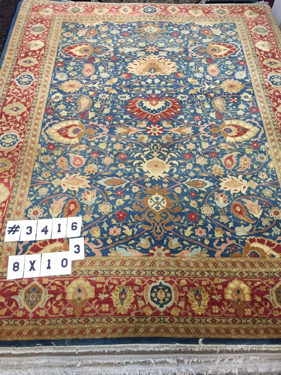 "8' x 10'3"" Pakistani Kashan Design Oriental Rug - Hand Made - 16/18 Quality - 100% Wool"