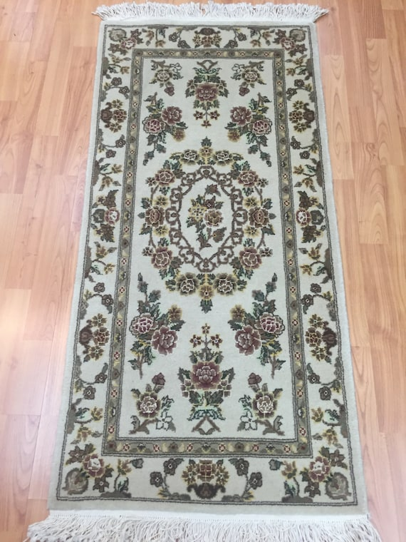 2' x 4' Sino Chinese Oriental Rug - Hand Made - Wool and Silk Pile
