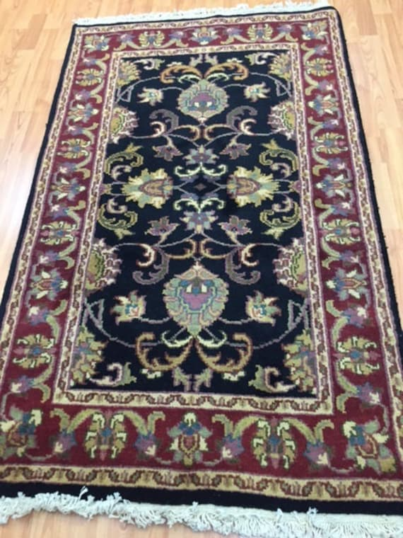 3' x 5' Indian Agra Oriental Rug - Hand Made - 100% Wool