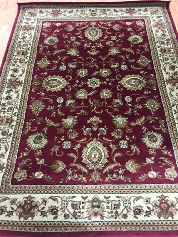 "5'3"" x 7'3"" Turkish Tabriz Oriental Rug - Tayse Kashmir Collection"