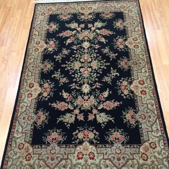 "3'9"" x 6' Sino Chinese Oriental Rug - Wool & Silk Pile - Hand Made"