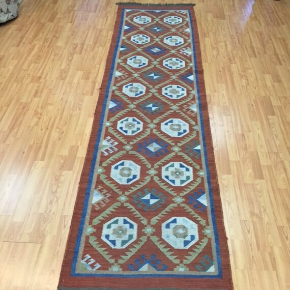 "2'7"" x 9'7"" Turkish Kilim Runner Oriental Rug - Hand Made - Two Available"