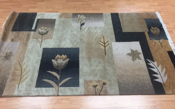 5' x 8' Indian Nepal Oriental Rug - Hand Made - 100% Wool - Modern Design