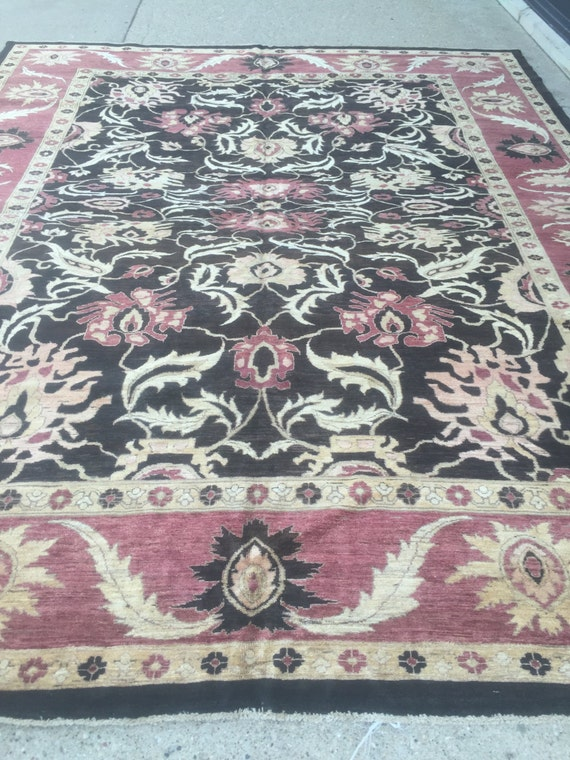 "10' x 12'7"" Pakistani Peshawar Oriental Rug - Hand Made - Vegetable Dye - 100% Wool"