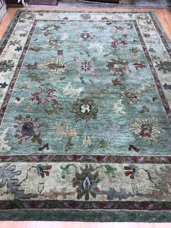"8'9"" x 11'10"" Nepal Agra Tofangiyan Collection Oriental Rug - Hand Made - 100% Wool"
