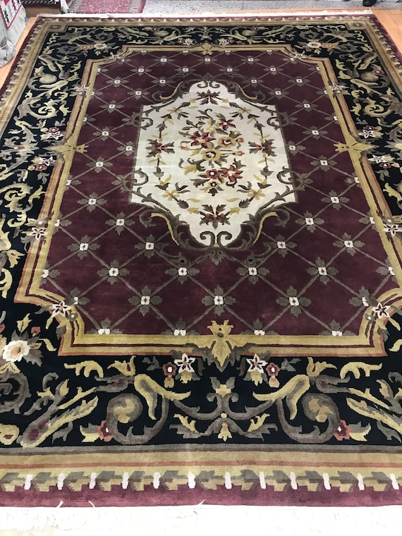 "9'4"" x 12' Nepal Tofangiyan Collection Oriental Rug - Hand Made - 100% Wool"