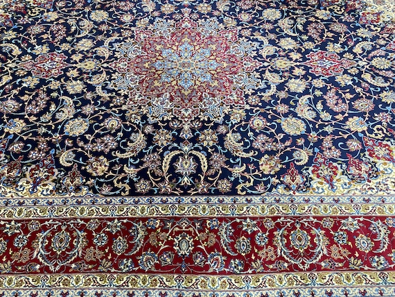 "8' x 12'3"" Turkish Oriental Rug - Full Pile - Hand Made - Silk Foundation"
