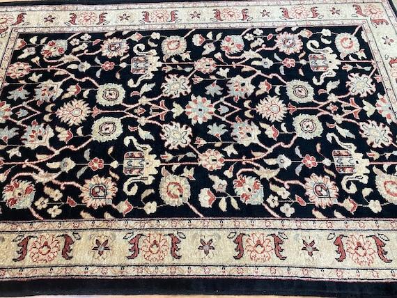"3'10"" x 6' Pakistani Peshawar Oriental Rug - Hand Made - 100% Wool - Vegetable Dye"