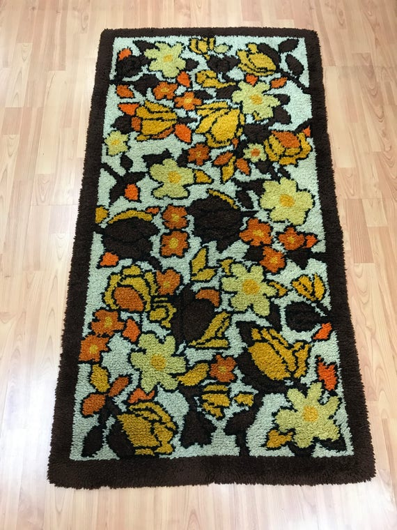 """2'6"""" x 4'10"""" Moroccan Floral Design Oriental Rug - Hand Made - 100% Wool"""