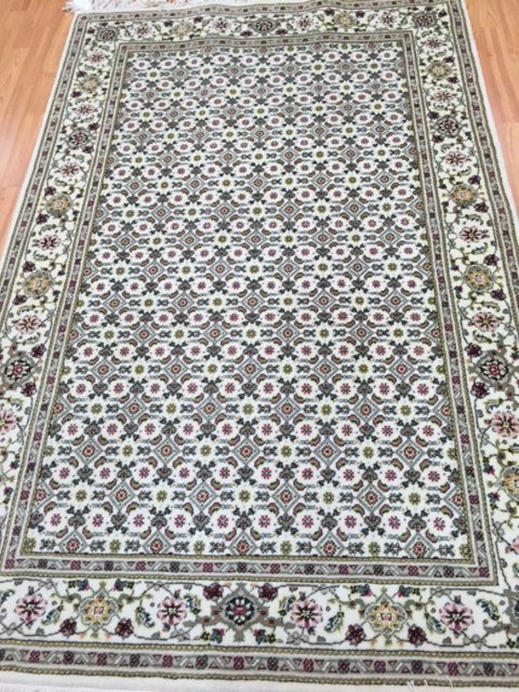 "4'2"" x 6'2"" Sino Chinese Oriental Rug - Wool & Silk - Hand Made"