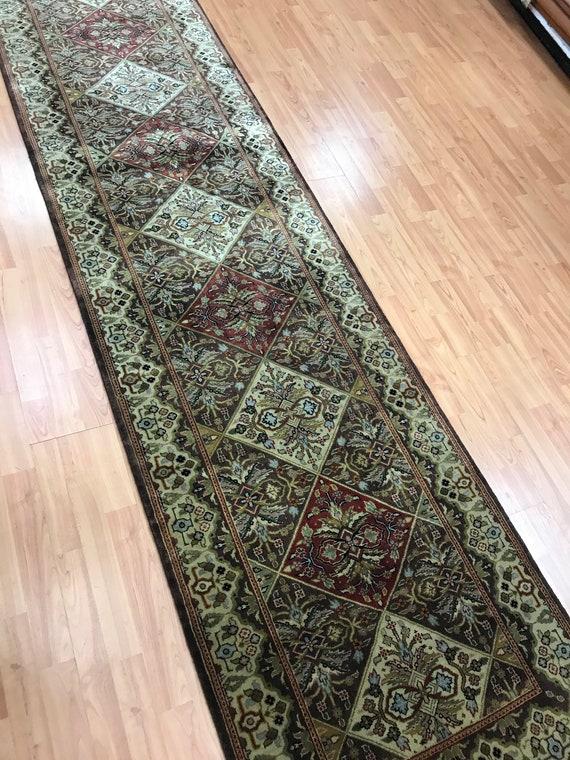 "2'7"" x 13'2"" Indian Bakhtiari Floor Runner Oriental Rug - Hand Made - 100% Wool"